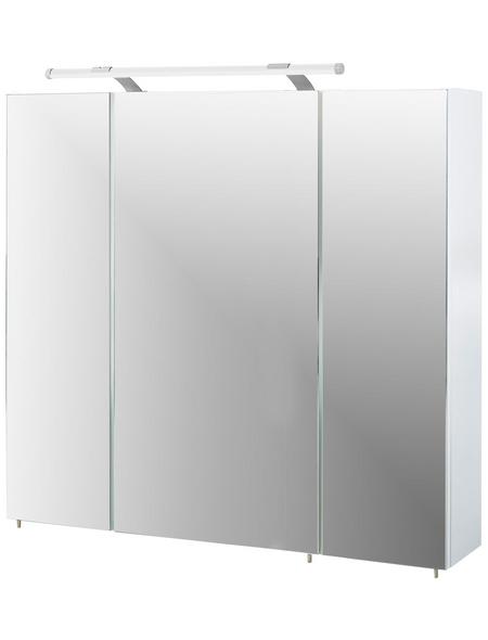 SCHILDMEYER Spiegelschrank »Dorina«, 3-türig, LED, BxH: 80 x 71 cm