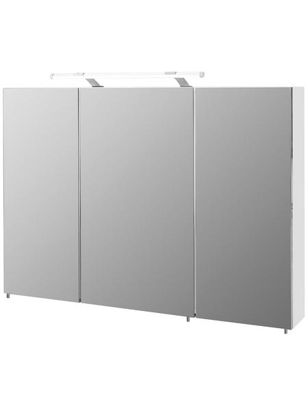 SCHILDMEYER Spiegelschrank »Dorina«, Weiß BxH: 100 cm x 71 cm