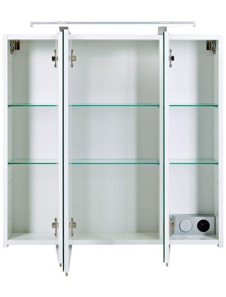 SCHILDMEYER Spiegelschrank »Dorina«, Weiß BxH: 80 cm x 71 cm