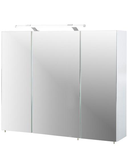 SCHILDMEYER Spiegelschrank »Dorina«, Weiß BxH: 90 cm x 71 cm