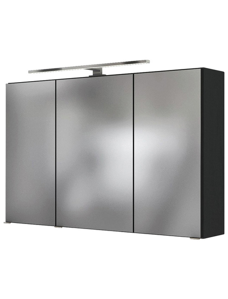 HELD MÖBEL Spiegelschrank »Florida«, 3-türig, LED, BxH: 100 x 66 cm