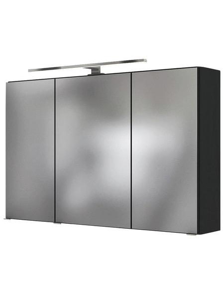 HELD MÖBEL Spiegelschrank »Florida«, 3-türig, LED, BxH: 120 x 64 cm