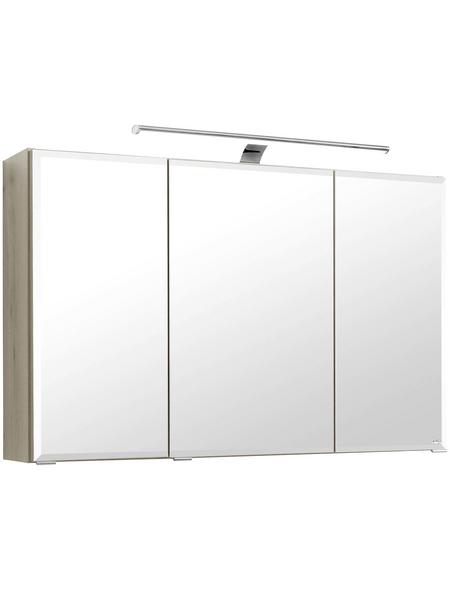 HELD MÖBEL Spiegelschrank »Fontana«, 3-türig, LED, B x H: 100 x 66 cm
