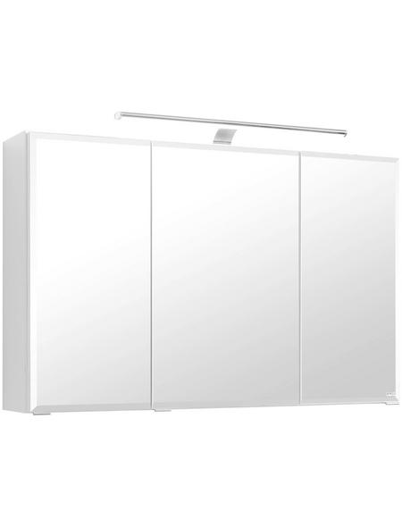 HELD MÖBEL Spiegelschrank »Fontana«, 3-türig, LED, BxH: 100 x 64 cm