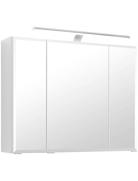 HELD MÖBEL Spiegelschrank »Fontana«, 3-türig, LED, BxH: 80 x 64 cm