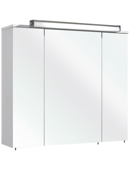 PELIPAL Spiegelschrank »Gela«, 3-türig, LED, BxH: 80 x 72 cm