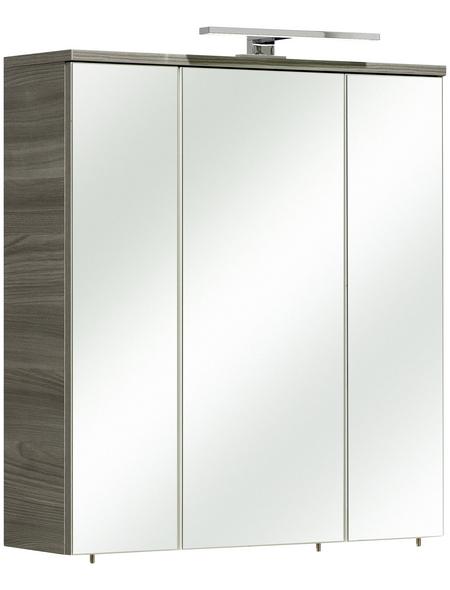 PELIPAL Spiegelschrank »Gela IV«, 3-türig, LED, BxH: 65 x 72 cm