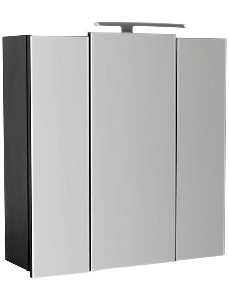 POSSEIK Spiegelschrank »HOMELINE«, 3-türig, LED, BxH: 68 x 68 cm
