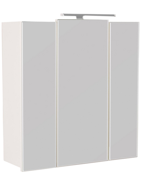 POSSEIK Spiegelschrank »HOMELINE«, 3-türig, LED, BxH: 70 x 62 cm