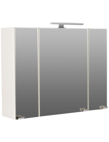 POSSEIK Spiegelschrank »HOMELINE«, 3-türig, LED, BxH: 90 x 68 cm