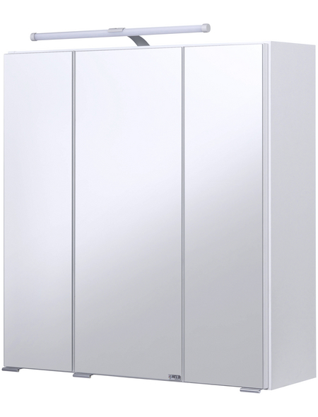 HELD MÖBEL Spiegelschrank »Jaca«, 3-türig, LED, BxH: 60 x 64 cm