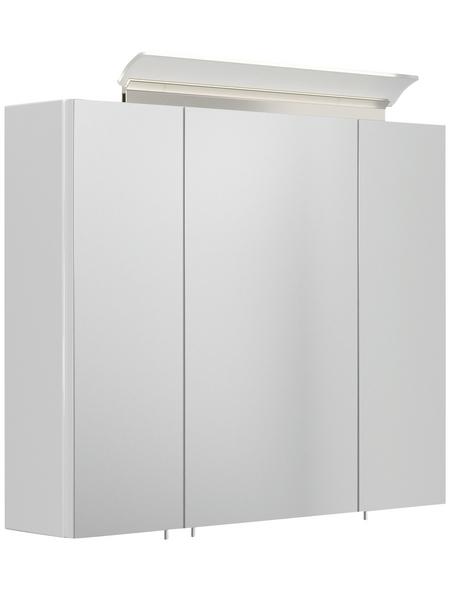 POSSEIK Spiegelschrank, LED, BxH: 66 x 64,4 cm