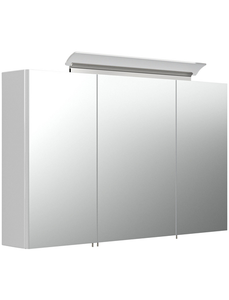 POSSEIK Spiegelschrank, LED, BxH: 90 x 64,4 cm
