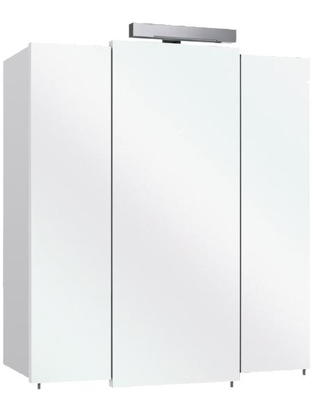 PELIPAL Spiegelschrank »Livorno«, 3-türig, LED, BxH: 68 x 73 cm