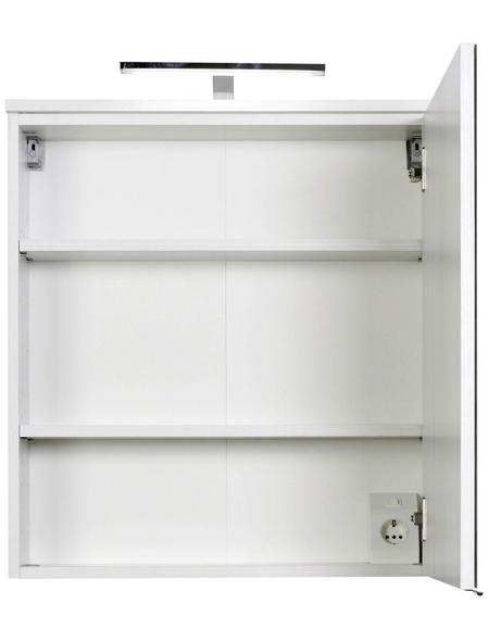 HELD MÖBEL Spiegelschrank »Mailand«, 1-türig, LED, B x H: 60 x 66 cm