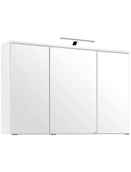 HELD MÖBEL Spiegelschrank »Mailand«, 3-türig, LED, BxH: 100 x 66 cm