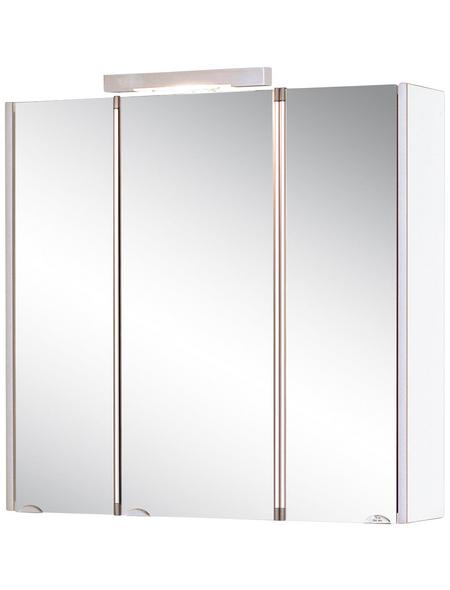 JOKEY Spiegelschrank »Mandiol«, 3-türig, BxH: 75 x 75 cm, beleuchtet