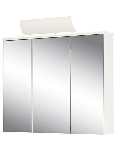 JOKEY Spiegelschrank »Manos«, 3-türig, BxH: 72,5 x 73 cm, beleuchtet