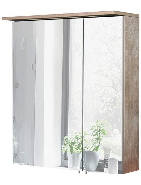 SCHILDMEYER Spiegelschrank »Milan«, 2-türig, LED, BxH: 60 x 72,3 cm