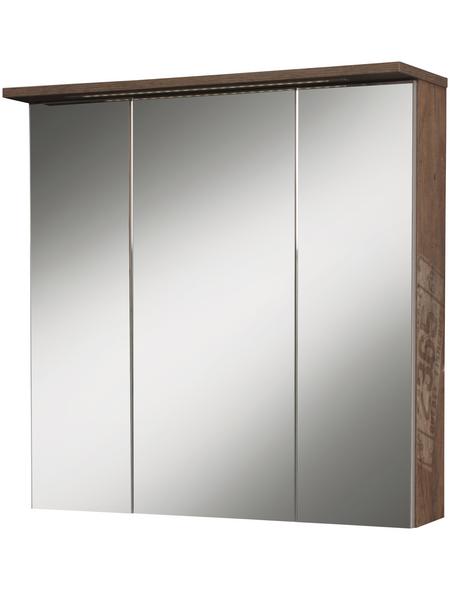 SCHILDMEYER Spiegelschrank »Milan«, 3-türig, LED, BxH: 70 x 73 cm