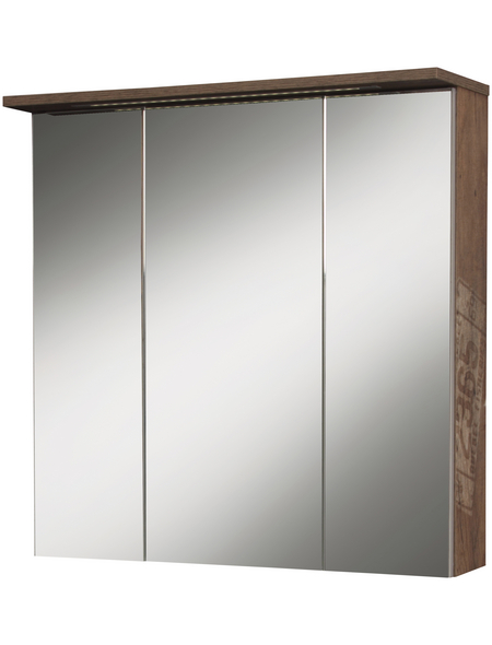 SCHILDMEYER Spiegelschrank »Milan«, Eiche BxH: 70 cm x 73 cm