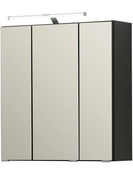HELD MÖBEL Spiegelschrank »Montreal«, 3-türig, LED, BxH: 60 x 64 cm