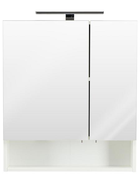 POSSEIK Spiegelschrank »MULTI USE«, 2-türig, LED, B x H: 60 x 68 cm