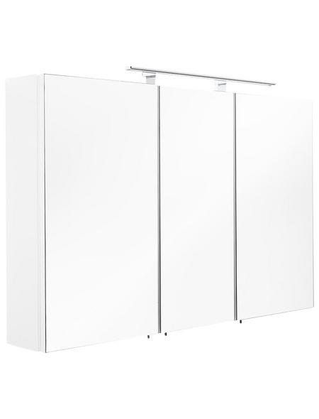 POSSEIK Spiegelschrank »MULTI USE«, 3-türig, LED, BxH: 110 x 68 cm