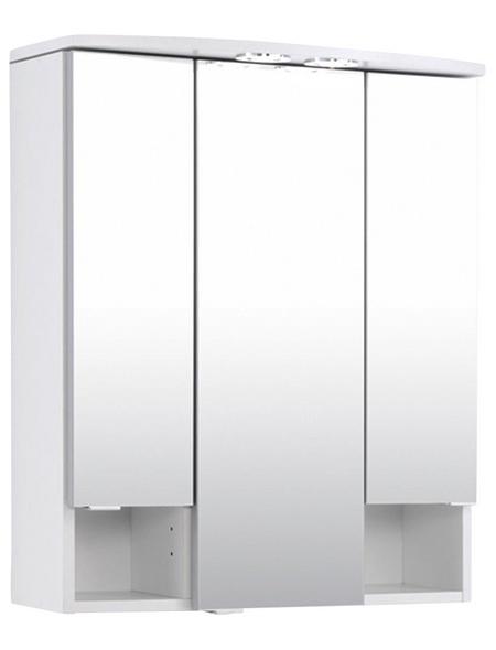 HELD MÖBEL Spiegelschrank »Neapel«, 3-türig, BxH: 60 x 71 cm, beleuchtet