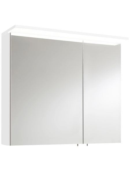 OPTIFIT Spiegelschrank »OPTIbasic 4030«, 2-türig, LED, B x H: 80 x 71 cm
