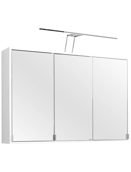 HELD MÖBEL Spiegelschrank »Oslo«, 3-türig, LED, BxH: 100 x 64 cm