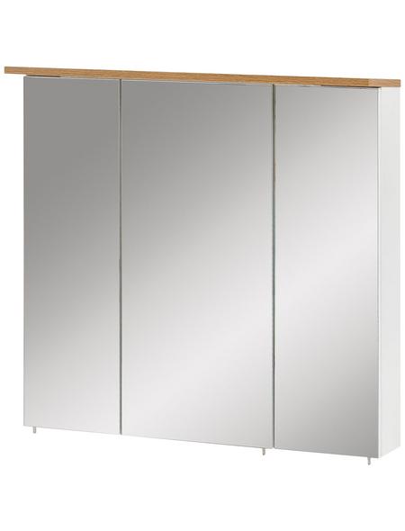 SCHILDMEYER Spiegelschrank »Padua«, 3-türig, LED, BxH: 70 x 72,3 cm