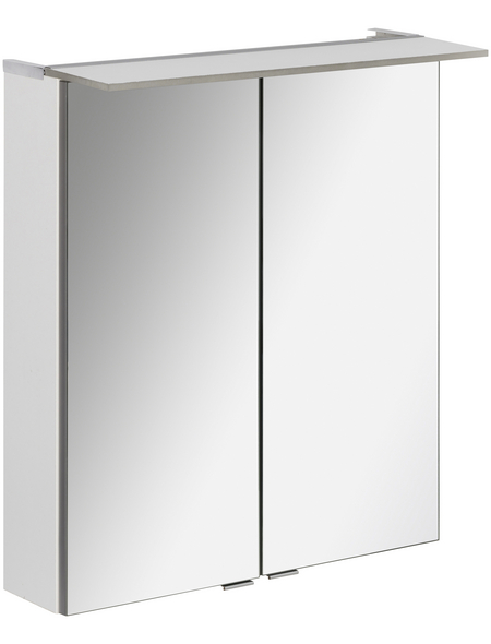 FACKELMANN Spiegelschrank »PE 60«, 2-türig, LED, B x H: 60 x 69 cm