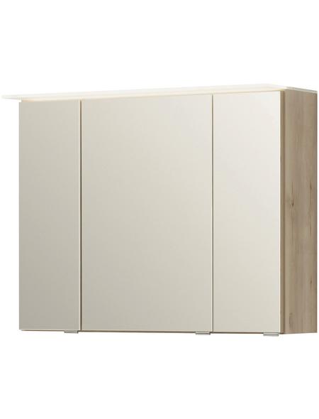 HELD MÖBEL Spiegelschrank »Ravello«, 3-türig, LED, BxH: 80 x 64 cm
