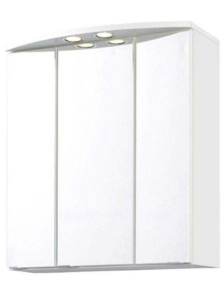 HELD MÖBEL Spiegelschrank »Rimini«, 3-türig, BxH: 60 x 64 cm, beleuchtet