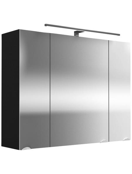 POSSEIK Spiegelschrank »ROMA«, 3-türig, LED, B x H: 90 x 62 cm