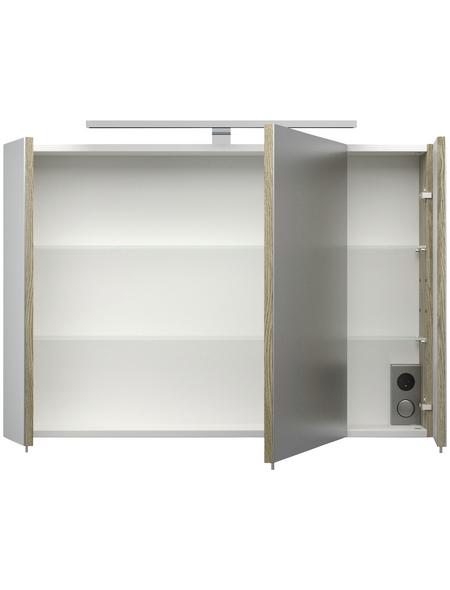 POSSEIK Spiegelschrank »ROMA«, 3-türig, LED, BxH: 90 x 62 cm