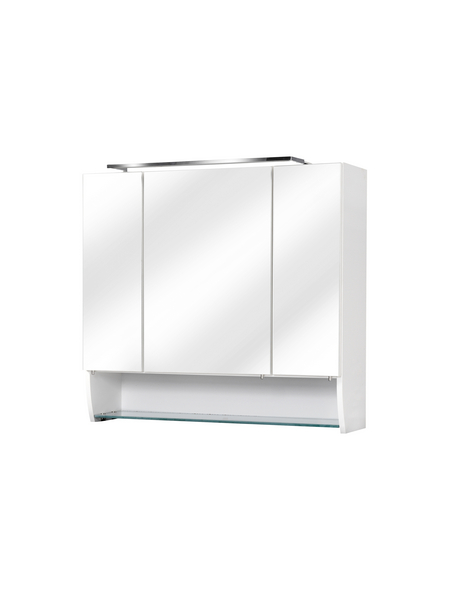 FACKELMANN Spiegelschrank »Sceno«, 3-türig, LED, BxH: 80 x 73 cm