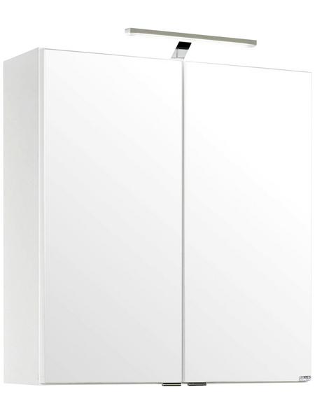 HELD MÖBEL Spiegelschrank »Siena«, 2-türig, LED, B x H: 60 x 65 cm