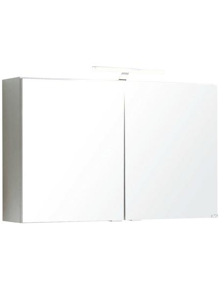HELD MÖBEL Spiegelschrank »Siena«, 2-türig, LED, B x H: 80 x 65 cm