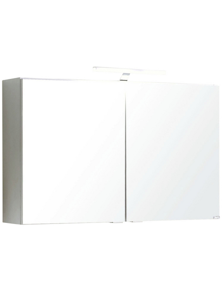 HELD MÖBEL Spiegelschrank »Siena«, 2-türig, LED, BxH: 80 x 65 cm