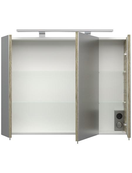 POSSEIK Spiegelschrank »Sonoma«, 3-türig, LED, BxH: 80 x 62 cm