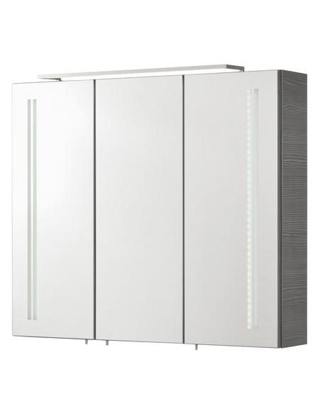 FACKELMANN Spiegelschrank »Vadea«, 3-türig, LED, BxH: 80 x 68 cm