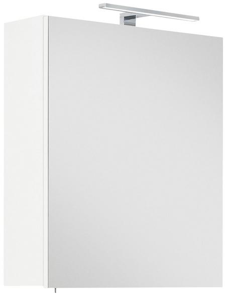 POSSEIK Spiegelschrank »VIVA«, 1-türig, LED, BxH: 50,5 x 62 cm