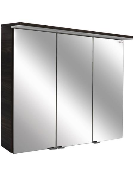 FACKELMANN Spiegelschrank »Yega«, 3-türig, LED, B x H: 80,5 x 70,5 cm