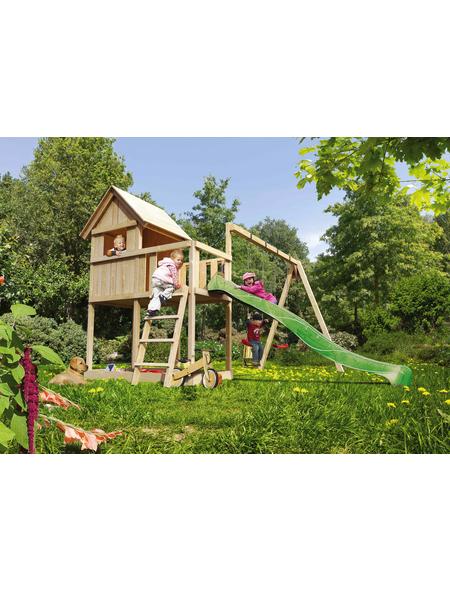 AKUBI Spielhaus »Frieda«, BxHxT: 137 x 291 x 119 cm, Holz, natur