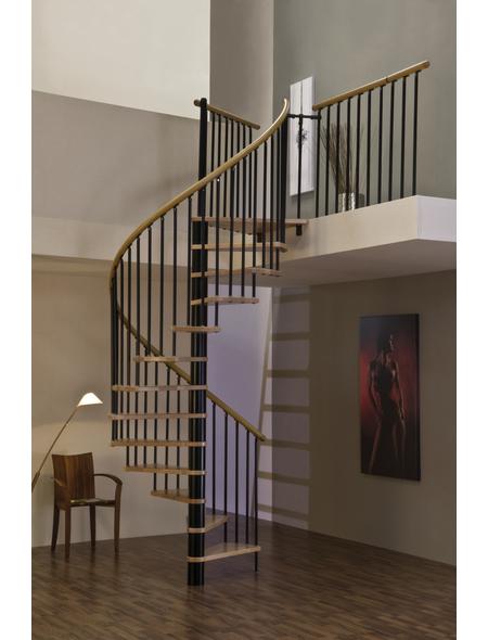 MINKA Spindeltreppe »Spiral Wood Black«, , , bis 309 cm Raumhöhe