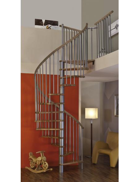 MINKA Spindeltreppe »Spiral Wood Silver«, , , bis 309 cm Raumhöhe