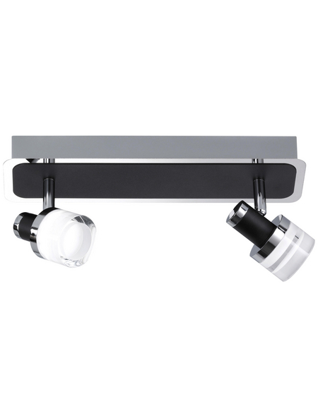wofi® Spotbalken schwarz 4,5 W, 2-flammig, inkl. Leuchtmittel in warmweiß