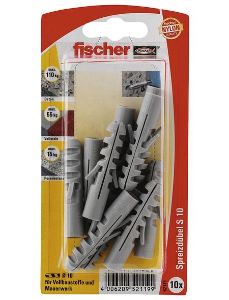 FISCHER Spreizdübel, 10 Stück, S 10 GK PG